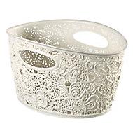 Curver Victoria White Basket (H)16cm (W)29.4cm