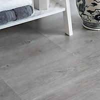 D-C-Fix Floor covering Grey Oak Wood effect Self adhesive Tiles, Pack of 11