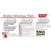 D-C-Fix Frosted effect Film (L)1.5m (W)450mm