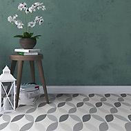 D-C-Fix Grey & white Geometric Tile effect Self adhesive Vinyl tile, Pack of 11