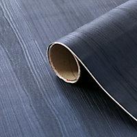 D-C-Fix Navy Woodgrain effect Self-adhesive film (L)1.5m (W)675mm