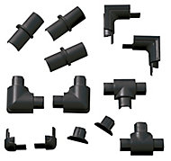 D-Line Black 16mm Micro trunking accessory, Pack of 13