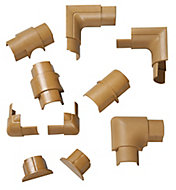 D-Line Brown 10 Piece Trunking kit, (W)30mm