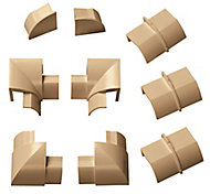 D-Line Brown 9 Piece Trunking kit, (W)30mm