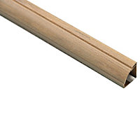 D-Line Natural 22mm Quarter-circle Trunking length, (L)2m