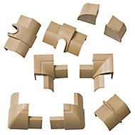 D-Line Natural 9 Piece Trunking kit, (W)22mm