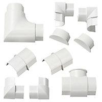 D-Line White 10 Piece Trunking kit, (W)40mm