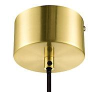 Dacite Brushed Brass & transparent Brass effect Pendant ceiling light, (Dia)280mm