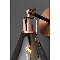 Dafyd Cone Antique copper & smoke Wall light