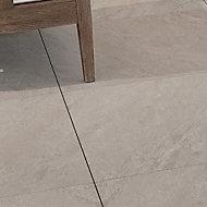 Dakota Beige Matt Stone effect Porcelain Outdoor Floor Tile, Pack of 2, (L)600mm (W)600mm