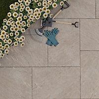 Dakota Beige Matt Stone effect Porcelain Outdoor Floor Tile, Pack of 2, (L)900mm (W)600mm