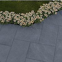 Dakota Grey Matt Stone effect Porcelain Outdoor Floor Tile, Pack of 2, (L)900mm (W)600mm