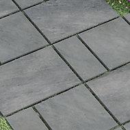 Dakota Grey Matt Stone effect Porcelain Outdoor Floor Tile, Pack of 4, (L)600mm (W)300mm