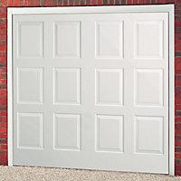 Dakota White Retractable Garage door, (H)1981mm (W)2438mm