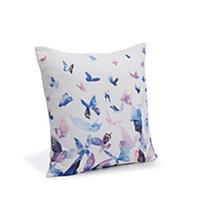 Dandra Butterflies Blue, purple & white Cushion