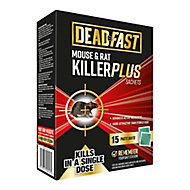 Deadfast Rodents Rodenticide, Pack of 15