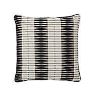 Delhi Patterned Black & white Cushion (L)50cm x (W)50cm