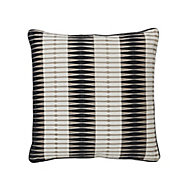 Delhi Patterned Black & white Cushion