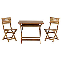 Denia Wooden 2 seater Bistro set