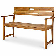 Denia Wooden Natural Bench