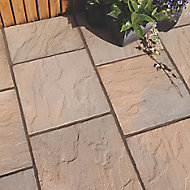 Derbyshire Brown blend Reconstituted stone Paving slab (L)450mm (W)450mm