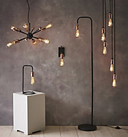 Detroit Black Copper effect Wall light