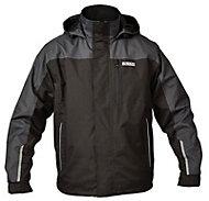 DeWalt Black & charcoal grey Waterproof jacket XX Large