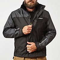 DeWalt Black & Grey Waterproof jacket Medium