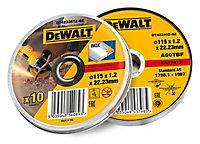 DeWalt (Dia)115mm Grinding disc, Pack of 10