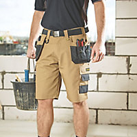 "DeWalt Heritage Black & tan Shorts W36"""