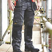 """DeWalt Pro Tradesman Black & grey Trousers, W36"""" L31"""""""