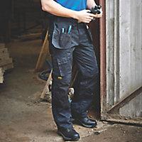 """DeWalt Pro Tradesman Black Trousers, W32"""" L33"""""""