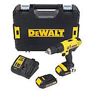 DeWalt XR 18V 1.5Ah Li-ion Cordless Combi drill 2 batteries DCD776S2T-GB