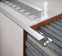 Diall 10mm Straight Aluminium Tile trim