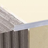 Diall 12.5mm Straight Aluminium Tile trim