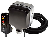 Diall 13A Grey Outdoor Switched Socket