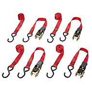 Diall 2 hook Ratchet tie down & hook, (L)3m (W)0.03m
