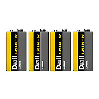 Diall Alkaline batteries Non-rechargeable 9V Battery, Pack of 4
