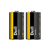 Diall Alkaline batteries Non-rechargeable C (LR14) Battery, Pack of 2