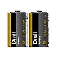 Diall Alkaline batteries Non-rechargeable D (LR20) Battery, Pack of 2