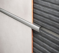 Diall Aluminium Eased edge Listello tile trim, 8mm