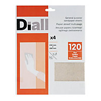 Diall Aluminium oxide Fine Hand sanding sheets, Pack of