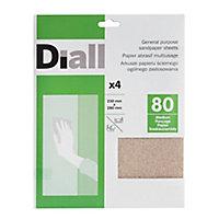 Diall Aluminium oxide Medium Hand sanding sheets, Pack of