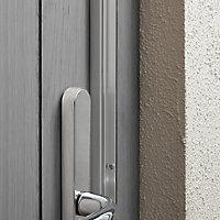 Diall Aluminium Silver effect Aluminium & rubber Draught excluder, (L)1.05m