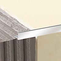 Diall Aluminium Straight Tiling trim, 8mm