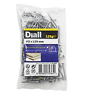 Diall Annular ring nail (L)25mm (Dia)2mm, Pack
