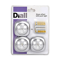 Diall Battery-powered LED Work light 1.5V 10lm, Pack of 3