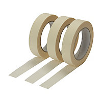 Diall Beige Masking Tape (L)50m (W)24mm, Pack of 3