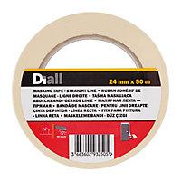 Diall Beige Masking Tape (L)50m (W)24mm