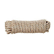 Diall Beige Polypropylene Twisted rope, (L)10m (Dia)6mm